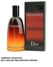 Fahrenheit by Christian Dior for Men EDT Spray 3.4 oz - 100 ml (NIB) SEALED