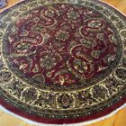 Brand New Fine Quality Round Floral Oriental Rug Handmade in India, 9' Circle