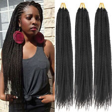"5 pack 18"" Senegal Thin Twist Crochet Braids Synthetic Braiding Hair Extensions"