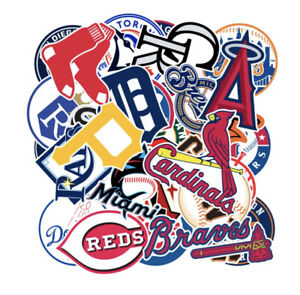 30 X MLB Baseball Team Stickers