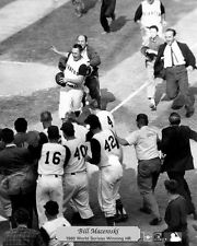 PIRATES HERO BILL MAZEROSKI AFTER SHOT TO WIN WORLD SERIES 8x10 2