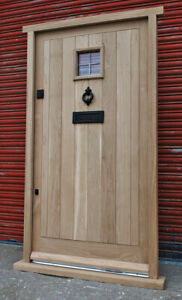 Traditional Solid Oak Cottage Style Front Door! Made to measure! Bespoke!