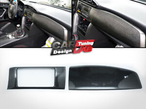 (2) Carbon Dash Kit board Radio Cover For Scion FRS FR-S Toyota GT86 Subaru BRZ