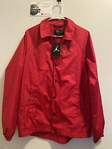 Nike Air Jordan JSW Wings Coaches Jacket 882893-687 Gym Red/Black NEW Size Small