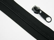 1m Reißverschluss + 1 Schieber, 10mm Spirale, endlos, Meterware, Zipper