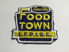 Vintage Save Rite Food Town LFPISC Patch Blue Yellow Grocery Store Supermarket A