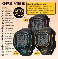 Soleus Vibe GPS Running Digital Watch Speed Distance Pace Calorie Counter Lap