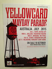 YELLOWCARD + MAYDAY PARADE Australian Tour Poster July 2015 A2 Lift A Sail **NEW
