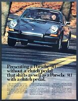 1973 Porsche 911 Sportomatic Coupe photo Never Wanted a Clutch? vintage print ad