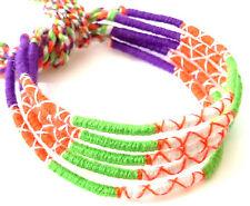 Lot 5 Bracelets Brésiliens de l'Amitié Macramé coton Friendship orange vert