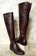 Anthropologie Boots Over The Knee Brown Antiqued Leather 39 NIB