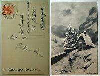 Bertiglia  cartolina  Buon Natale   viaggiata  1955