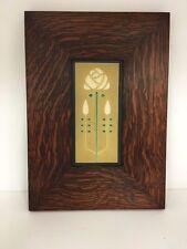 Motawi Long Stem Jade Art Tile Family Woodworks Legacy Arts & Crafts Frame