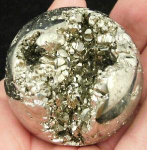 A Larger Crystal Filled Pyrite SPHERE 266gr