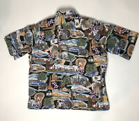 Vtg Rey Spooner Hawaain Shirt American Classics Mens Xl Button Up Short Sleeve