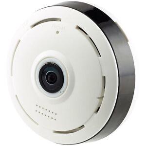 Camera: IP-Panorama-Überwachungskamera für 360°-Rundumsicht & Nachtsicht, 960p