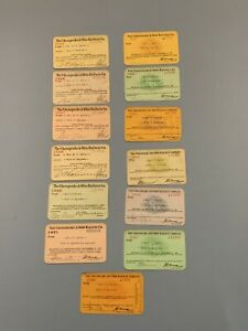 13 Chesapeake & Ohio Railway Co C&O RR wife of engineer Train Pass 1925-1938 LOT