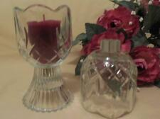 Home Interiors Crystal Tulip Votive Cup with Grommets - Set of 2