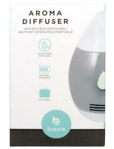 LOT OF 2 B-PURE PORTABLE MINI AROMA DIFFUSER WATER FREE BATTERY OPERATED 2 PADS