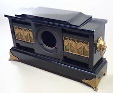 Antique Black Mantel Shelf Clock Case Parts Repair
