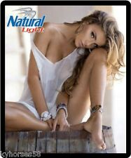 Natural Light Beer Sexy Model In White Top Refrigerator Magnet