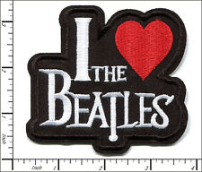 20 Pcs Embroidered Iron on patches I LoveThe Beatles Musice Band AP056cC