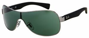 Ray-Ban Sunglasses RB 3471 004/71 32 Black,Gunmetal Frame | Green Classic Lens