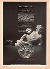 Fenton Wheels Cars Mags Hustler III Racing Female Driver 1968 Vtg Magazine Ad
