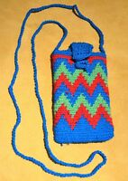 Tribally Hand Woven Wayuu Small Colorful Mochila Bag, Colombia South America