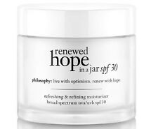 NIB! Philosophy Renewed Hope in  a Jar SPF 30 In Box FULL Size 2oz FREE SHIP $47