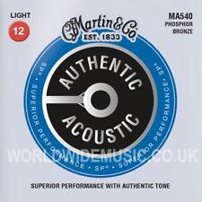 Cuerdas Para Guitarra Acústica Martin MA540 luz de bronce fosforoso calibre 012 - 054