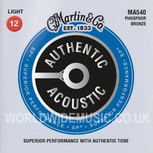 Martin MA540 Acoustic Guitar Strings Phosphor Bronze Light Gauge 012 - 054