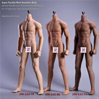 JIAOU DOLL 1/6 Super Flexible Male Seamless Skeleton Body For 12'' Action Figure