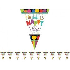Happy Eid Triangle Flags ( 1 String Of 10 Triangle Flags)