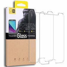 For Samsung Galaxy J3 Exact Emerge Tempered Glass Screen Protector Case [2-Pack]