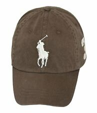Polo Ralph Lauren Men Big Pony Logo Hat Chocolate BROWN MCMLXVII CAP BASEBALL