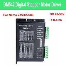 Digital Stepper Motor Driver Micro 1.0-4.2A 20-50VDC DM542 for Nema 23/24/57/86