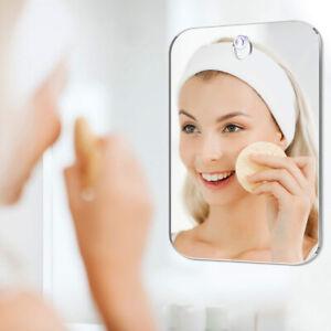 Shaving Shower Mirror Bathroom Anti-Fog Wall Hanging Travel Acrylic Mirror