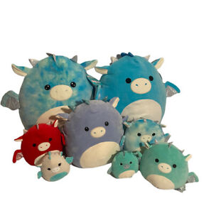 Giant Lot Of Dragon Squishmallows - Rare Hard To Find - Some New With Tags