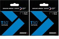 Conjunto de 2 paquetes de 8mm ARROW T50 GRAPAS PARA GRAPA GUNS