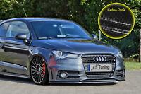 Spoilerschwert Frontspoiler aus ABS für Audi A1 VFL S-Line ABE Carbon Optik