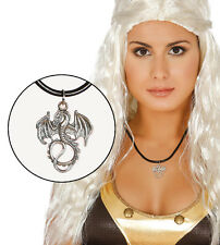 Game of Thrones Dragon Necklace Khalessi Dragon Pendant on Cord 3.5CM NEW