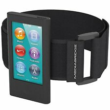 iPod Nano 7th Gen / 8th Gen Sport Armband Flexible Silicone Case Black Cover