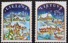 FRANCOBOLLI di Natale, 2003, Lituania, Albero di Natale, Chiesa SG RIF: 819 & 820, Gomma integra, non linguellato