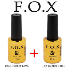 F.O.X (Fox) SET 2in1 Base Rubber 12ml + Top Rubber 12ml Original Gel Nail Polish
