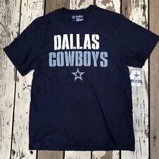 NFL Dallas COWBOYS Football • Men s STENCIL STACK Cowboy Authentic T-Shirt  LARGE 1fe151a01