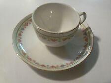 Homer Laughlin Porcelin Tea Cup And Saucer Pink Rose Pattern