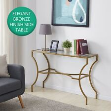 Modern Console Table Glass Metal Furniture Gold Hallway Luxury Sofa Table New