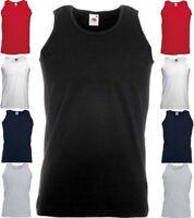 FRUIT OF THE LOOM Herren Tank Top Athletic Vest ärmellos T-Shirt-S M L XL XXL(2)