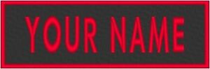 """Custom Embroidered 6"""" x  1 1/2 """" Name Tag Sew Iron-On Patch Tactical  #3"""